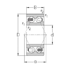 40 mm x 80 mm x 30,2 mm  NKE 3208-B-TV angular contact ball bearings