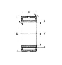 120 mm x 165 mm x 45 mm  Loyal NA4924-2RS needle roller bearings
