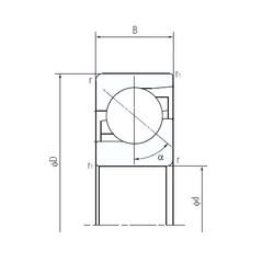120 mm x 260 mm x 55 mm  NACHI 120TAF03 thrust ball bearings