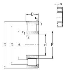 90 mm x 190 mm x 64 mm  NKE NJ2318-VH cylindrical roller bearings
