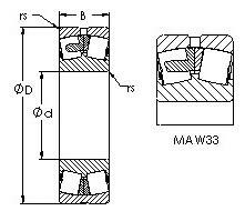 AST 22330KMAC4F80W33 spherical roller bearings