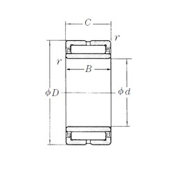 150 mm x 210 mm x 60 mm  NSK NA4930 needle roller bearings