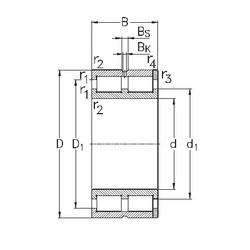 150 mm x 210 mm x 60 mm  NKE NNC4930-V cylindrical roller bearings