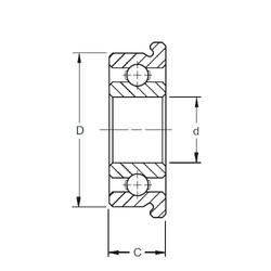25 mm x 37 mm x 7 mm  ZEN F61805 deep groove ball bearings