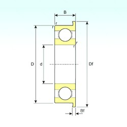 25 mm x 37 mm x 7 mm  ISB F6805 deep groove ball bearings