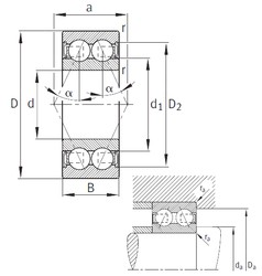 40 mm x 80 mm x 30,2 mm  FAG 3208-B-2RSR-TVH angular contact ball bearings