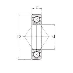 120 mm x 260 mm x 55 mm  FBJ QJ324 angular contact ball bearings