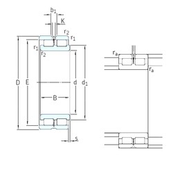 150 mm x 210 mm x 60 mm  SKF NNCL4930CV cylindrical roller bearings