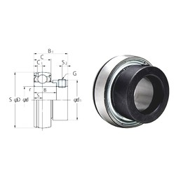 40 mm x 80 mm x 30,2 mm  KOYO SA208F deep groove ball bearings
