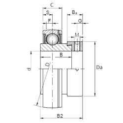40 mm x 80 mm x 30,2 mm  Loyal FD208 deep groove ball bearings