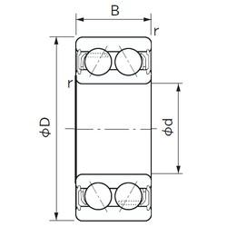 40 mm x 80 mm x 30.2 mm  NACHI 5208-2NS angular contact ball bearings