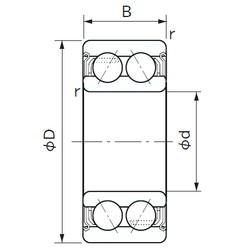 40 mm x 80 mm x 30.2 mm  NACHI 5208AZZ angular contact ball bearings
