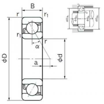 170 mm x 260 mm x 42 mm  NACHI 7034 angular contact ball bearings