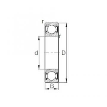10 mm x 35 mm x 11 mm  KBC 6300DD deep groove ball bearings