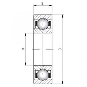 ISO QJ303 angular contact ball bearings