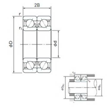 10 mm x 35 mm x 11 mm  NACHI 7300DB angular contact ball bearings