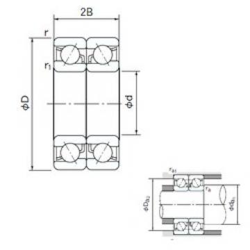 17 mm x 47 mm x 14 mm  NACHI 7303BDB angular contact ball bearings