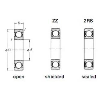 10 mm x 35 mm x 11 mm  Loyal 6300 deep groove ball bearings