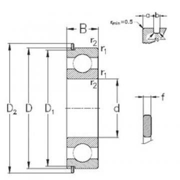 17 mm x 47 mm x 14 mm  NKE 6303-Z-N deep groove ball bearings