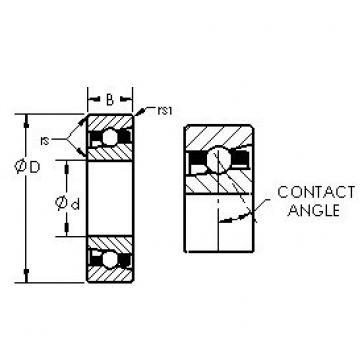 AST H7026C/HQ1 angular contact ball bearings