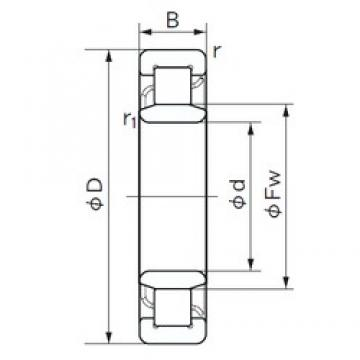 120 mm x 260 mm x 55 mm  NACHI NU 324 E cylindrical roller bearings