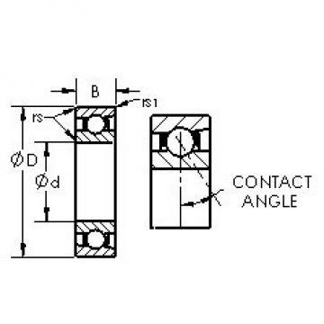 AST 7026C angular contact ball bearings