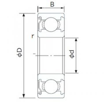 120 mm x 260 mm x 55 mm  NACHI 6324Z deep groove ball bearings