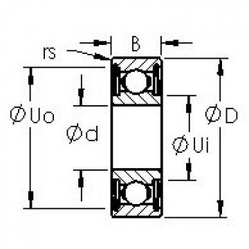 AST 6300ZZ deep groove ball bearings