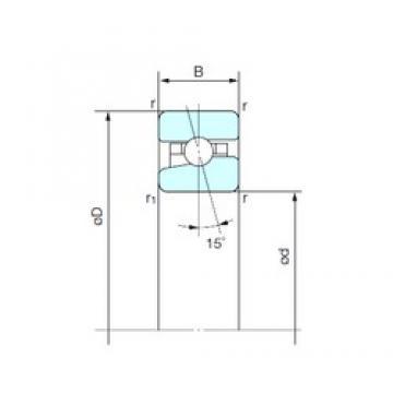 170 mm x 260 mm x 42 mm  NACHI BNH 034 angular contact ball bearings
