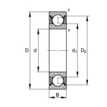 25 mm x 37 mm x 7 mm  FAG 61805-2Z deep groove ball bearings
