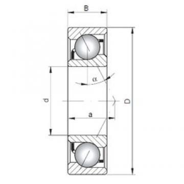 130 mm x 200 mm x 33 mm  ISO 7026 C angular contact ball bearings