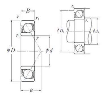 10 mm x 35 mm x 11 mm  NSK 7300 A angular contact ball bearings