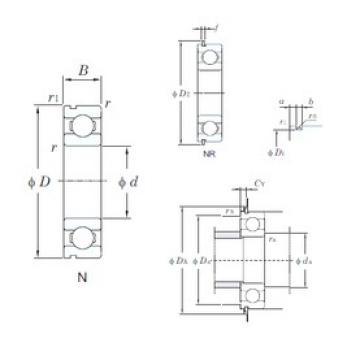 10 mm x 35 mm x 11 mm  KOYO 6300NR deep groove ball bearings