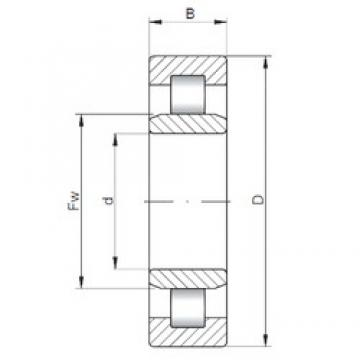 120 mm x 260 mm x 55 mm  ISO NU324 cylindrical roller bearings