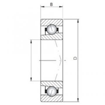 ISO 71805 A angular contact ball bearings