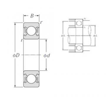 17 mm x 47 mm x 14 mm  NTN 6303LLB deep groove ball bearings