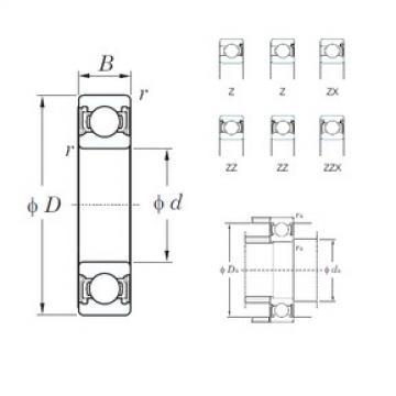 10 mm x 35 mm x 11 mm  KOYO 6300ZZ deep groove ball bearings