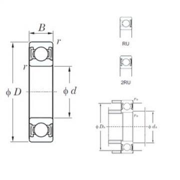 25 mm x 37 mm x 7 mm  KOYO 6805-2RU deep groove ball bearings