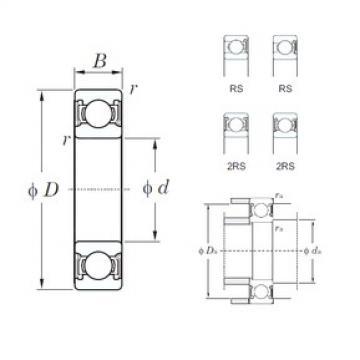 130 mm x 200 mm x 33 mm  KOYO 6026-2RS deep groove ball bearings