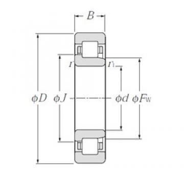 170 mm x 260 mm x 42 mm  NTN NJ1034 cylindrical roller bearings