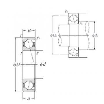 170 mm x 260 mm x 42 mm  NTN 7034 angular contact ball bearings