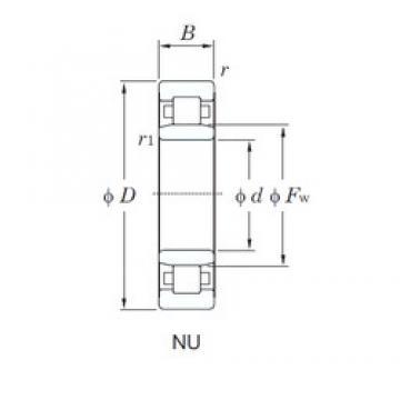 90 mm x 190 mm x 64 mm  KOYO NU2318R cylindrical roller bearings