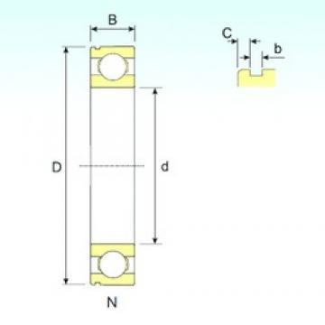 50 mm x 130 mm x 31 mm  ISB 6410 N deep groove ball bearings