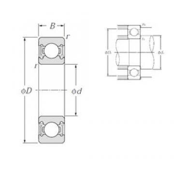 17 mm x 47 mm x 14 mm  NTN 6303LLH deep groove ball bearings