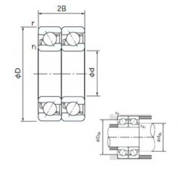 120 mm x 260 mm x 55 mm  NACHI 7324DT angular contact ball bearings