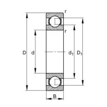 10 mm x 35 mm x 11 mm  FAG 6300 deep groove ball bearings