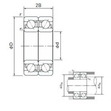 10 mm x 35 mm x 11 mm  NACHI 7300BDF angular contact ball bearings