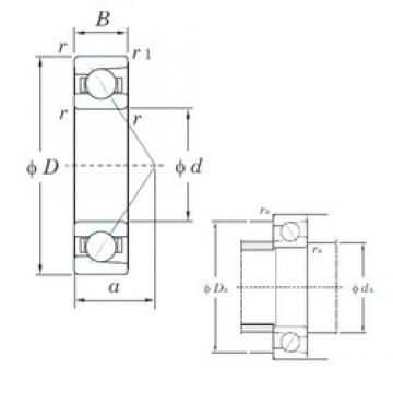 50 mm x 130 mm x 31 mm  KOYO 7410 angular contact ball bearings