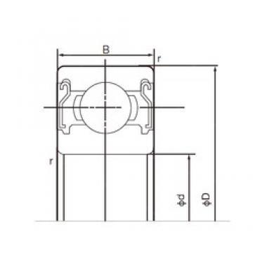 17 mm x 47 mm x 14 mm  NACHI 6303ZZE deep groove ball bearings