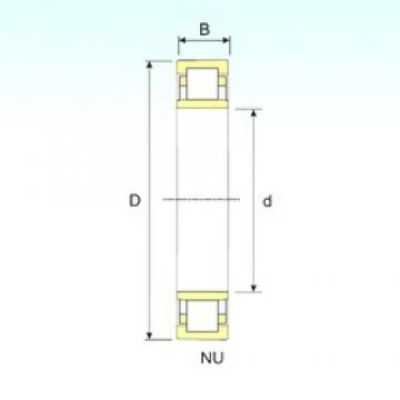90 mm x 190 mm x 64 mm  ISB NU 2318 cylindrical roller bearings